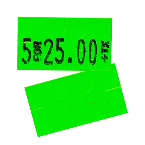 Flou. Green Pricing Labels for Monarch 1131 Price Gun - 1 Sleeve, 20,000 Price Gun Labels - with Bonus Ink Roll by Perco (Image #4)