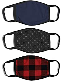 Men's 3-Pack Adult Fashionable Germ Protection, Reusable Fabric Face Mask