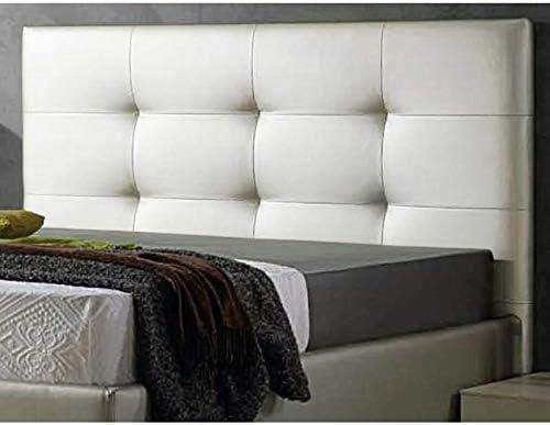Decorquality Cabecero Cama tapizado Polipiel Mod. Texas Todas Las Medidas y Colores (Blanco, 90 * 70): Amazon.es: Hogar