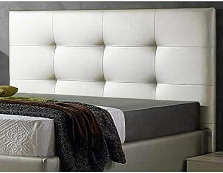 ED Cabecero Cama tapizado Polipiel Mod. Texas Todas Las Medidas y Colores (Blanco, 180 * 70)