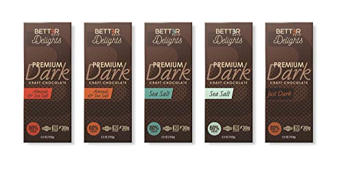 BETTER KETO Snacks 80% Dark Chocolate Bars with Sea Salt | Sugar & Gluten Free Healthy Snacks | Low Carb High Fat Low Calorie Keto, Paleo & Vegan Diet Dessert | 2.5 Oz 24-Pack by BETT3R KETO (Image #3)