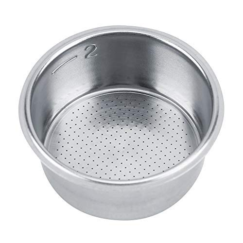 52mm Coffee Filter Removable Stainless Steel Double Wall Filter Non Pressurized Filter Basket Strainer powder tank pressure for Breville