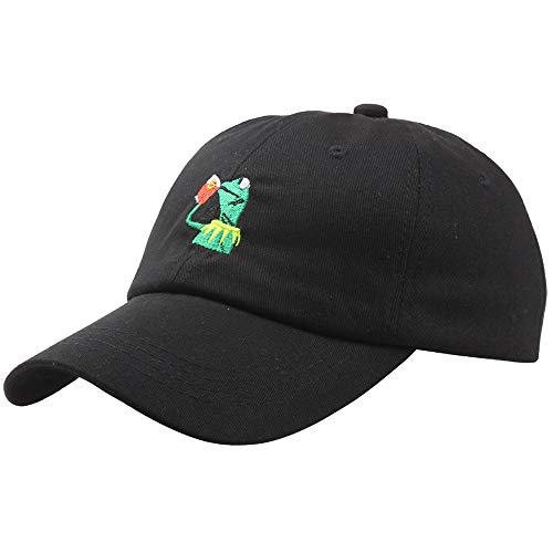 Frog Baseball Hat - shinyis Kermit The Frog Sipping Tea Adjustable Strapback Cap Unisex Baseball Cap