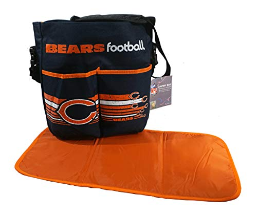 Chicago Bears NFL (Baby Fanatic) Diaper Bag w/ Changing - Chicago Cubs Lines