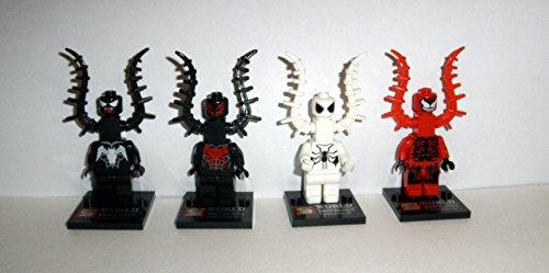 """Set of 7 """"Spiderman, Venom, Anti-venom,Carnage, Spidey ..."""