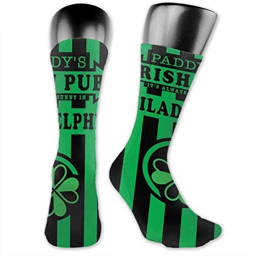 WOWRIGHT It's Always Sunny in Philadelphia Paddy's Irish Pub Dress Socks Funny Stockings Crazy Socks Casual Cotton Crew Socks