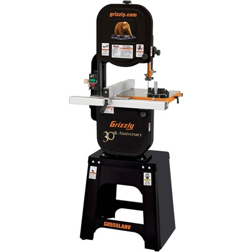 Grizzly G0555LANV 14-Inch Deluxe Bandsaw, Anniversary Edi...
