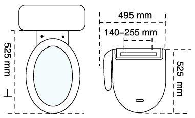 Bidet wc dusche mit sitzheizung fön etc vollausstattung