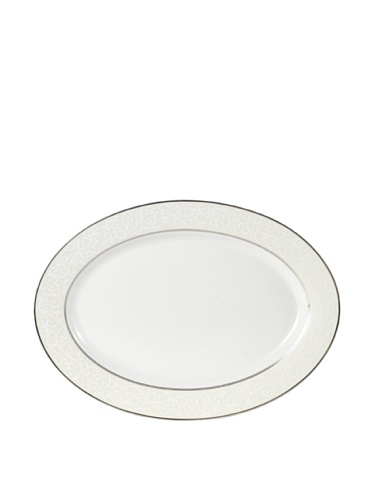 Mikasa Parchment Ivory Oval Serving Platter, 14-Inch (Platinum Classic Oval Platter)