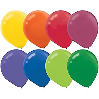 """Assorted Colors 12"""" Latex Balloons 72ct"""