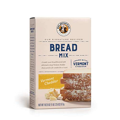 King Arthur Vermont Cheddar Bread Mix - 18.25 OZ (517g), Bread Mix for Bread Machines or Oven Baked Bread