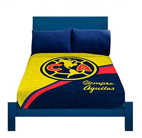 (JORGE'S HOME FASHION INC Limited Edition Club Aguilas DEL America Mexican Soccer Teens-Kids Boys Original Licensed Fleece Blanket 1 PCS Twin Size)
