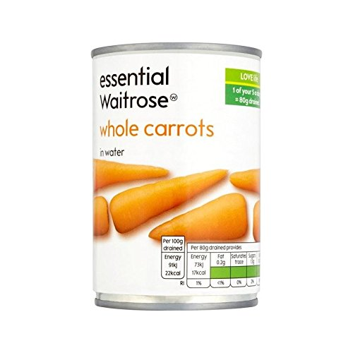 Whole Carrots essential Waitrose 300g - Pack of 6