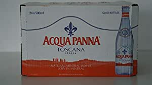 Acqua Panna Mineral Water in Glass bottle - 500 ml (Pack of 24)