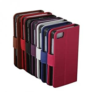 Litchi Pattern Bracket Synthetic Leather Case For BlackBerry Z10 --- Color:Blue