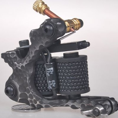 1TattooWorld Handmade Cast Iron Tattoo Machine Liner Shader Gun, OTW-M701