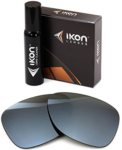 Polarized Ikon Iridium Replacement Lenses For Dragon Experience 2 Sunglasses - Silver Chrome - Dragon Sunglasses Lenses Replacement
