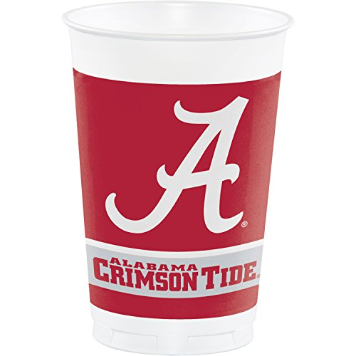 University of Alabama Plastic Cups, 24 ct