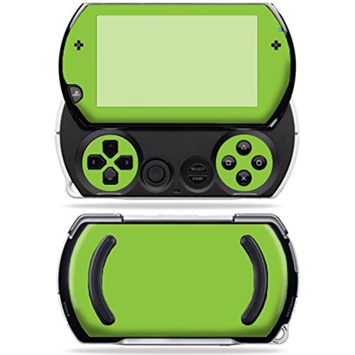Mightyskins Protective Vinyl Skin Decal Cover for Sony PSP Go System wrap sticker skins Solid Green