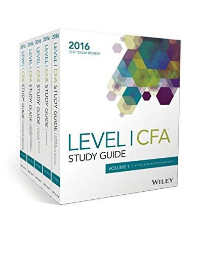 Wiley Study Guide for 2016 Level I CFA Exam: Complete Set by Wiley (2016-03-28)