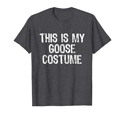 Mens This Is My Goose Costume Halloween T-Shirt Small Dark Heather