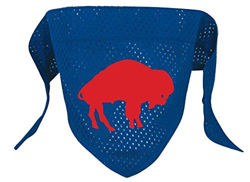 Throwback Mesh (Buffalo Bills Pet Dog Mesh Throwback Jersey Bandana S/M)