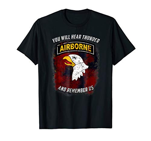 US Army 101st Airborne 'You Will Hear Thunder' - Airborne 101st T-shirt Military