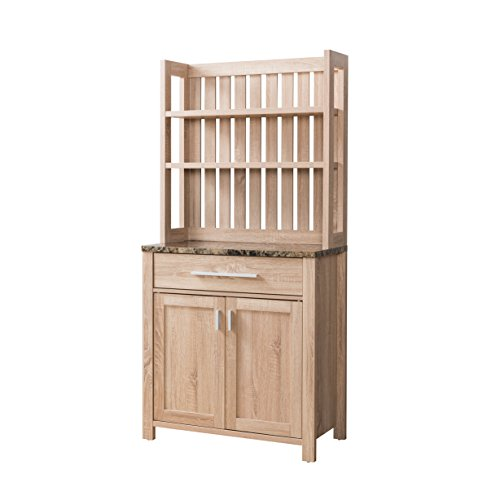 HOMES: Inside + Out IDI-151250 Portia Baker's Rack, One-Size, Weathered Sand by HOMES: Inside + Out
