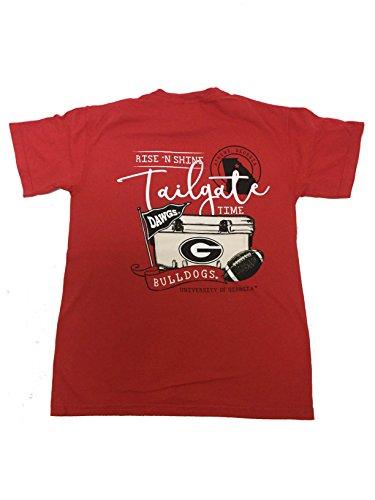Xxl Bulldog - Georgia Bulldogs Rise N' Shine T-shirt-Red-xxl