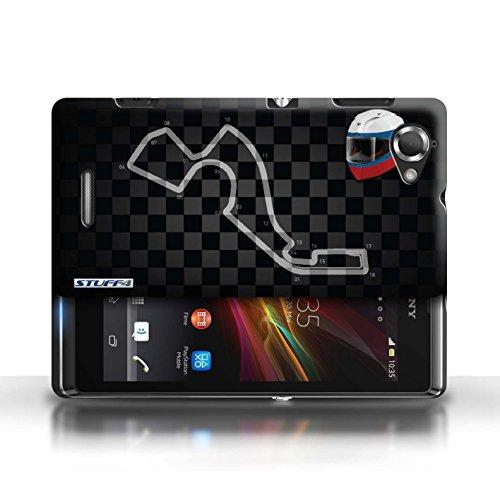 Etui / Coque pour Sony Xperia L/C2105 / Russie/Sochi conception / Collection de 2014 F1 Piste
