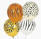 Jungle Animal Print Safari Balloons 50PC, 11''