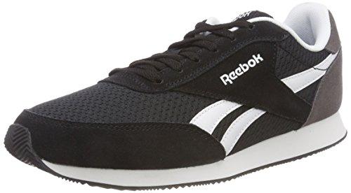 Reebok Royal Cl Jog, Chaussures de Running Compétition Femme Multicolore (Hrs-black/Ash Grey/Wh Cn3017)