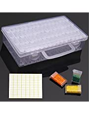 HuaCan 64pcs Diamond Painting Box Cases Gems Cases Drill Storage for Diamond Picture Art Dismountable Carry Case Tool Accessories