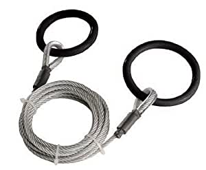 Log Choker / Towing Cable w/ Tow Rings, 10 ft Length, Logging, Skidding, Dragging