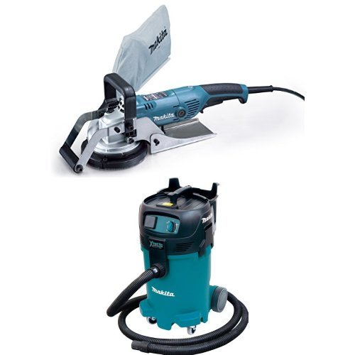 Makita PC5001C 5-Inch Concrete Planer VC4710 12-Gallon Xtract Vac Wet/Dry Dust Extractor/Vacuum