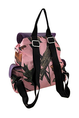 Backpack and Trees Pink Pink and Polyester Leaves Forest Canvas Purple Leaves Forest FdvqF