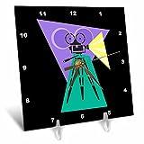 TNMGraphics Occupations - Retro Movie Camera - 6x6 Desk Clock (dc_38376_1)
