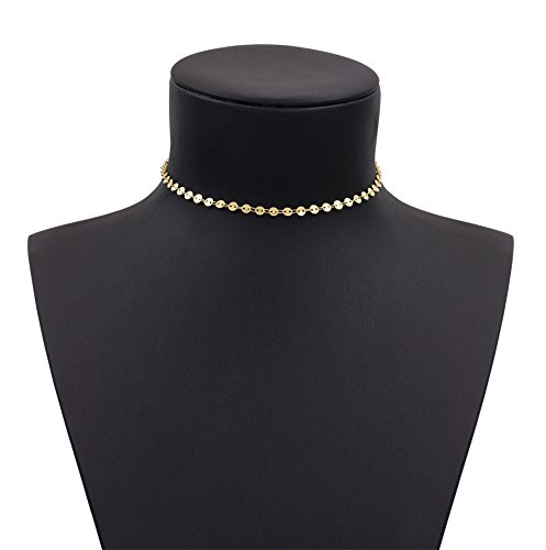 geerier-charming-gold-disc-choker-necklace-coin-choker