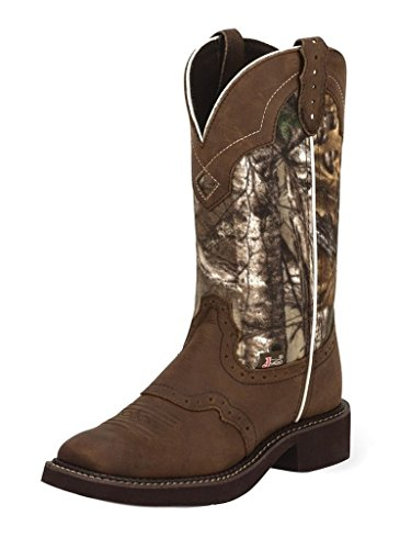 Justin Women's Gypsy Real Tree Camo Cowgirl Boot Square Toe Aged Bark 6.5 M US
