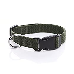 TAIDA Durable Adjustable Nylon Dog Collar, 1 Inch Wide, for Large Medium Dogs