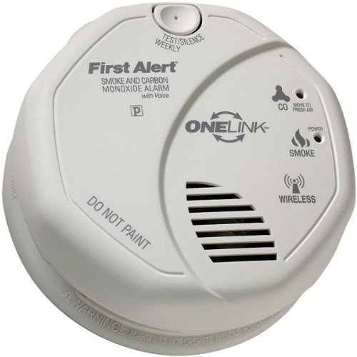 First Alert - SCO501CN-3ST - FIRST ALERT SCO501CN-3ST ONELINK Battery-Operated Combination Smoke & Carbon Monoxide Alarm with Voice Location