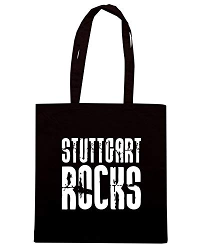Speed Shirt Borsa Shopper Nera OLDENG00666 STUTTGART ROCKS
