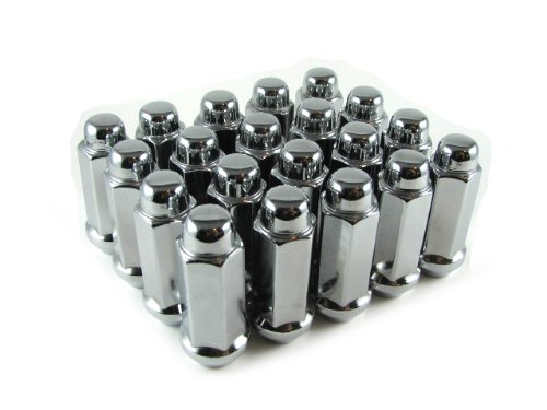 Long Bulge Acorn Lug Nuts 9//16 Chrome 20 Piece Set