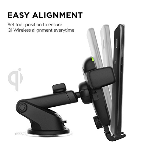 iOttie straight forward and easy One touch Qi wire less speedy payment van Mount for Samsung Galaxy S9 Plus S8 S7 Edge Note 8 Standard payment for iPhone X 8 Plus Qi capable devices is made up of combined van Charger Chargers