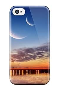 Pamela Sarich's Shop New Premium Flip Case Cover Three Moons Skin Case For Iphone 4/4s