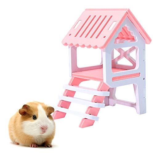 1pc HáMster Madera áTico Plataforma De ObservacióN Juguete Hamster ...