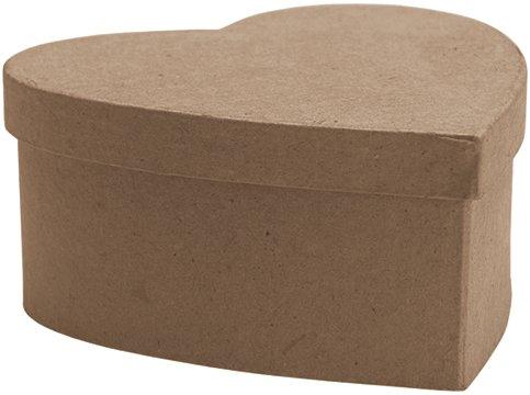 DCC Paper Mache Small Heart Box, 4.5-Inch x 4.5-Inch x (Dcc Paper Mache)