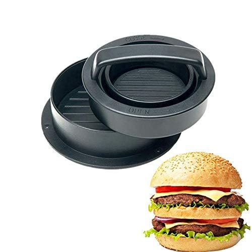 Unilive Mini Stuffed Burger Press Kit - Non-Stick 3-in-1 Hamburger Patty Maker Molds,Kitchen & Grilling Accessories Beef Burger,Stuffed Burgers and Patties (Black)