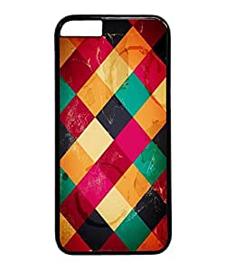 VUTTOO Iphone 6 Plus Case, Colorful Diamond Pattern Hardshell Case for Apple Iphone 6 Plus 5.5 Inch PC Black