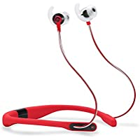 JBL Reflect Fit In-Ear Wireless Headphones with Heart-Rate Monitor (Red)